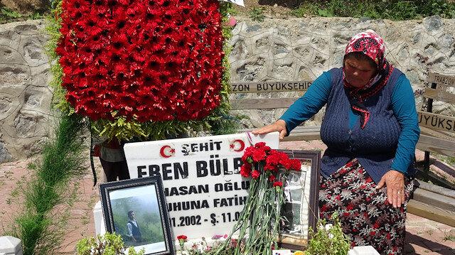 Eren Bülbül 2nci yılında mezarı başında anıldı