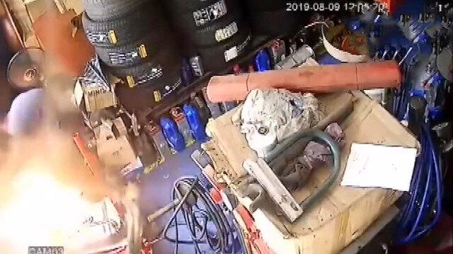 Çindeki bir tamirhanede yakıt tankı böyle patladı: 4 kişi öldü