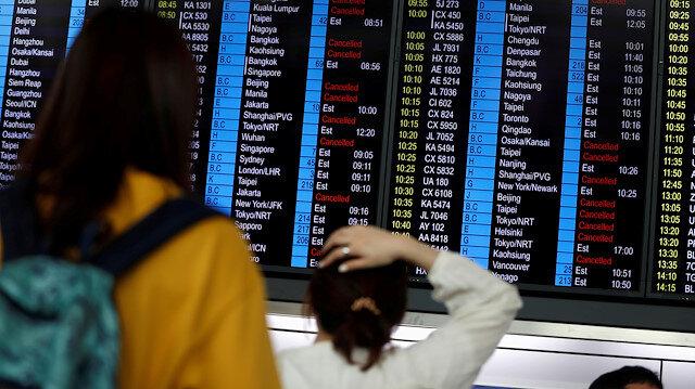 Hong Kong Havalimanı'nda uçuşlar tekrar başladı