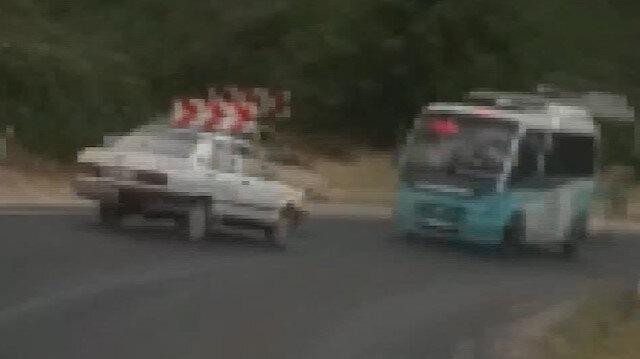 6 kişinin yaralandığı kaza anı araç kamerasında