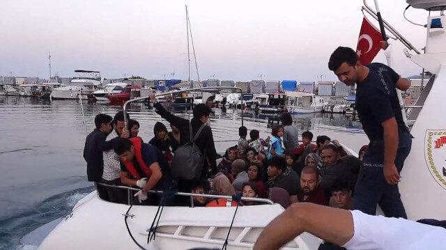 Çanakkalede 135 düzensiz göçmen yakalandı