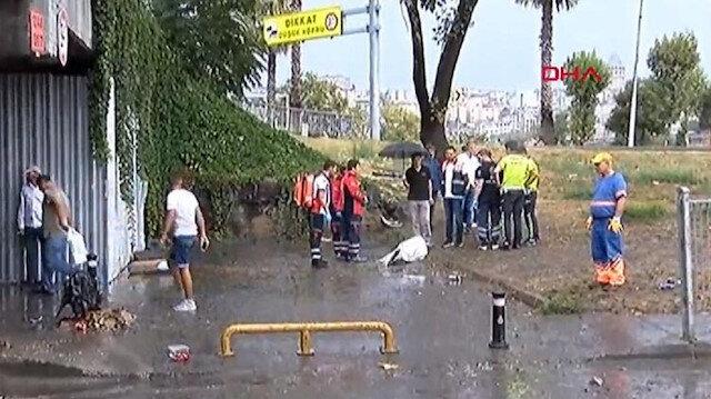 Unkapanı'nda sele kapılan bir kişi hayatını kaybetti