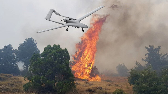 İHA'lara yeni görev: Yangınlar için kullanılabilir