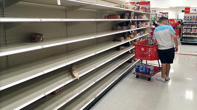 Amerika'da kasırga alarmı: Markette yiyecekler kalmadı
