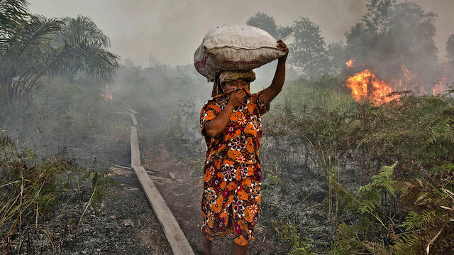 Endonezya'dan yayılan dumanlar Mazelya'yı etkiliyor