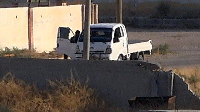 ABD'li komutanların ziyareti sırasında sınırda teröristler görüldü