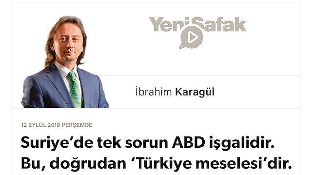 *Suriye'de tek sorun ABD işgalidir. Bu, doğrudan 'Türkiye meselesi'dir. *Fırat'ın Doğusunda 1. Dünya Savaşı sonrası en büyük cephe kuruluyor.. * Türkiye'yi savunmak sadece Erdoğan'ın değil, burayı vatan bilen herkesin görevi