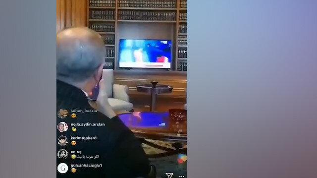 Erdoğan, Rıza Kayaalpin şampiyonluğunu böyle izledi