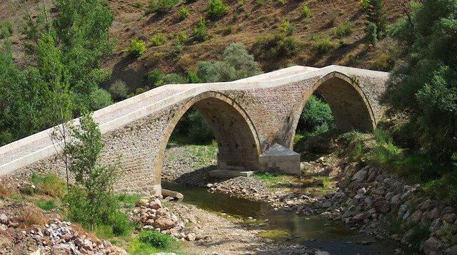 Sular çekilince tarihi Torul Köprüsü ortaya çıktı