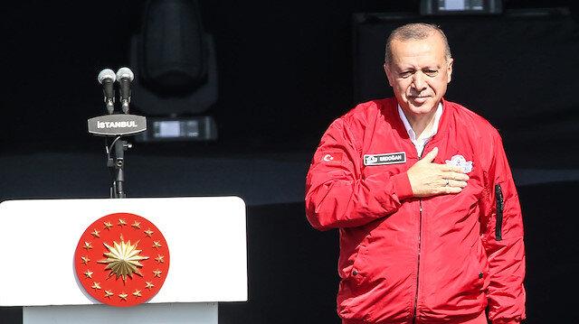 Cumhurbaşkanı Erdoğan TEKNOFEST'te: Ziyaretçi sayısı 500 bini aştı