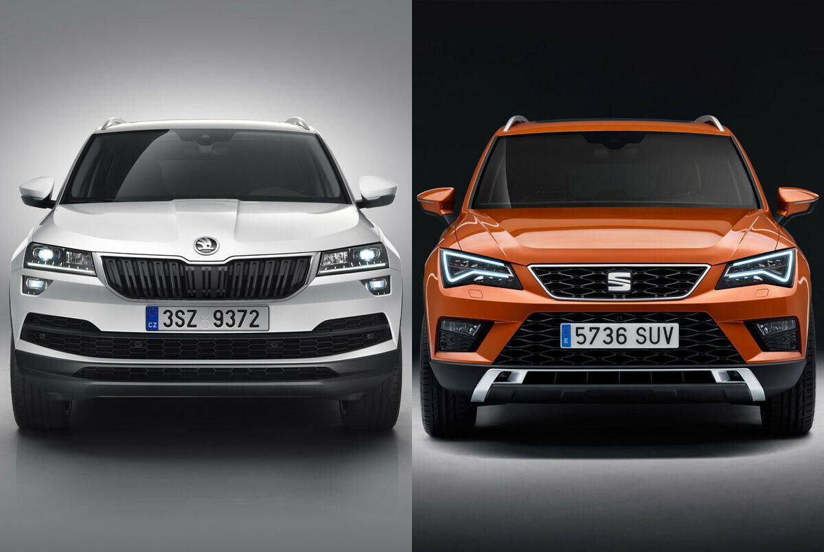 Volkswagen'in Türkiye'de kuracağı fabrikada üretmeyi planladığı Skoda'nın Karok ve Seat'ın Ateca modeli.