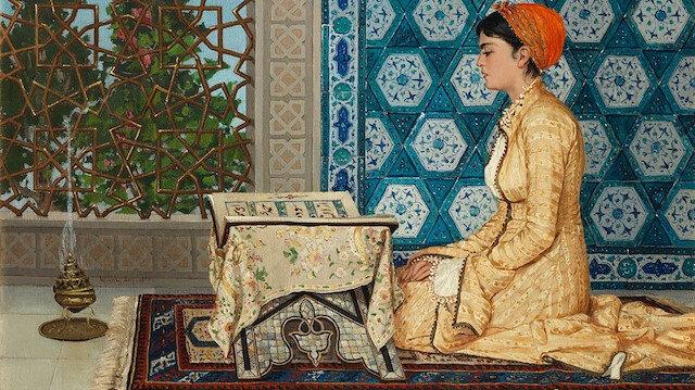 Osman Hamdi Bey'in 'Kur'an Okuyan Kız' adlı tablosu Londra'da 44 milyon liraya satıldı