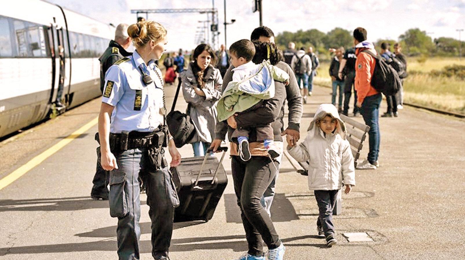 Danimarkalı mülteci aile