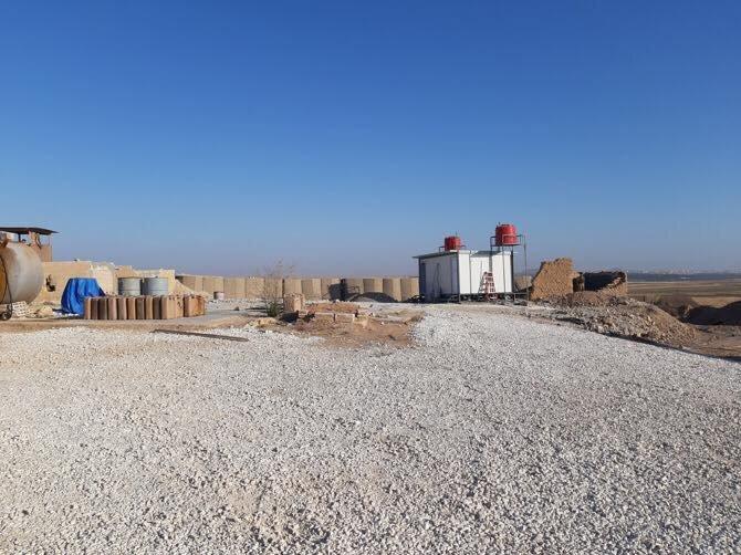 ABD'nin Tel Abyad'da boşalttığı üs görüntülendi