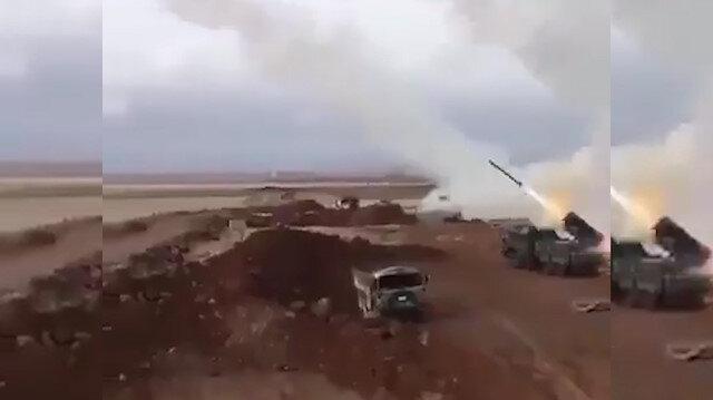 Resulayna yapılan bombardıman görüntüleri kamerada