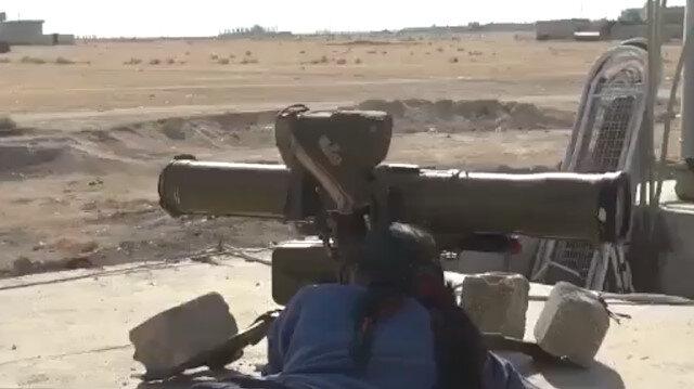 PYD'li teröristler ABD'nin 'toplayacağız' dediği füzelerle saldırıyor