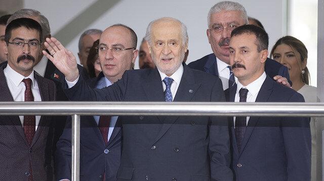 Bahçeli'den ilk görüntü: 22 gün sonra parti genel merkezine geldi