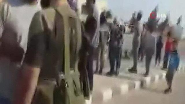 SMO askerlerinden terörist PKK/PYD zulmünden kaçan sivillere yardım