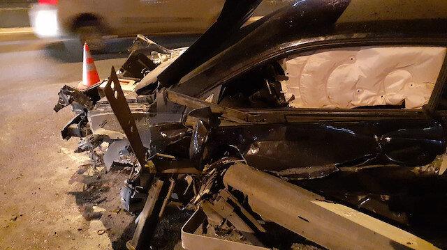 İstanbul'da feci kaza! Ayak parmakları koptu