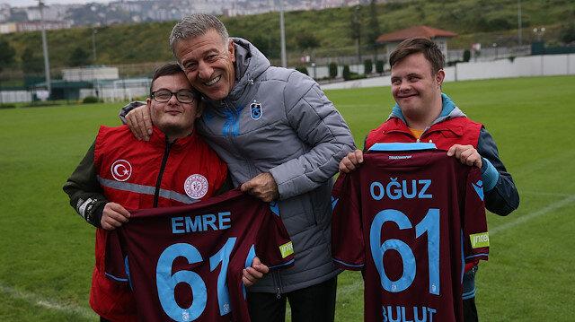 Down sendromlu sporculardan Trabzonspor kulübüne ziyaret