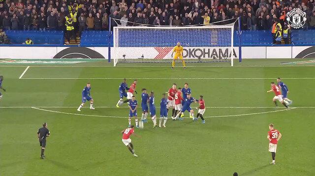 Rashforddan Chelseayi yıkan frikik golü: Ronaldoyu kıskandıracak
