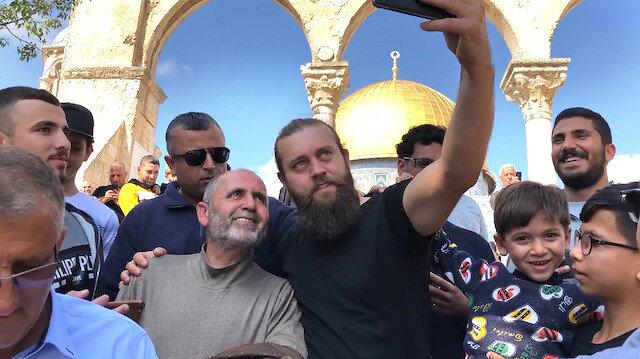 Diriliş Ertuğrul oyuncusuna Kudüs'te büyük ilgi