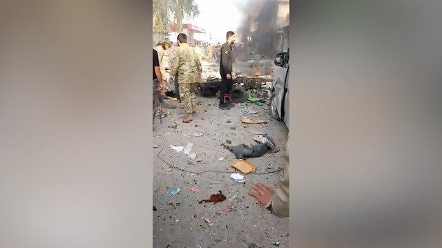 Tel Abyadda pazar yerine bomba yüklü araçla saldırı