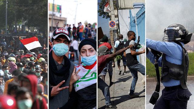 'İsyan ateşi' alevleniyor: Dünyanın dört bir yanındaki 18 gösteri hakkında bildiklerimiz