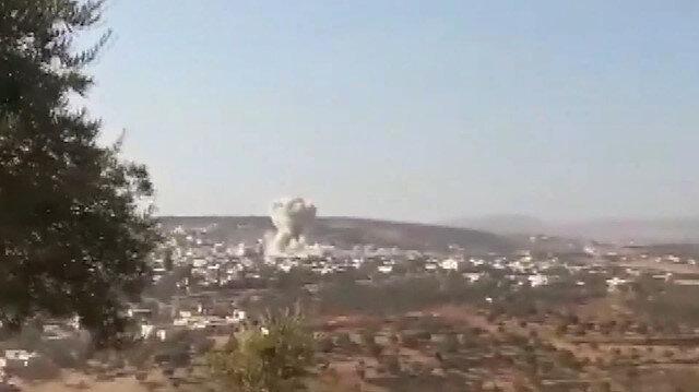 Rus uçakları İdlib çevresini bombaladı: 3 kişi öldü, 5i çocuk 9 kişi yaralandı