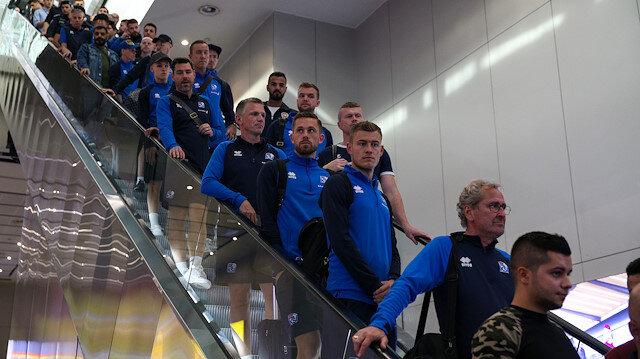 Emre Belözoğluna fırça uzatmışlardı... İzlanda milli takımı İstanbula geldi