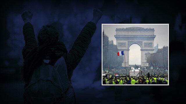Sarı yelekliler 1. yılında: Yüzlerce kişi sokaklara döküldü