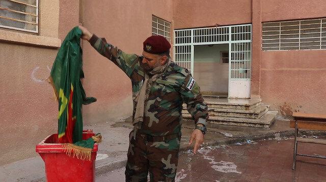 Rasulayn'daki PKK karargahı yapılan okullarda terörün izleri siliniyor