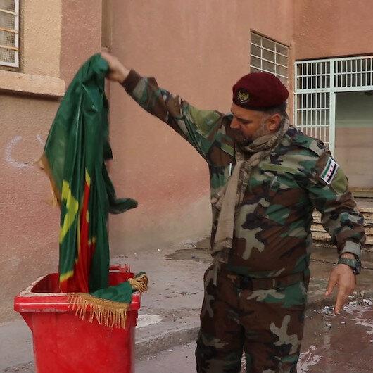 Rasulayndaki PKK karargahı yapılan okullarda terörün izleri siliniyor