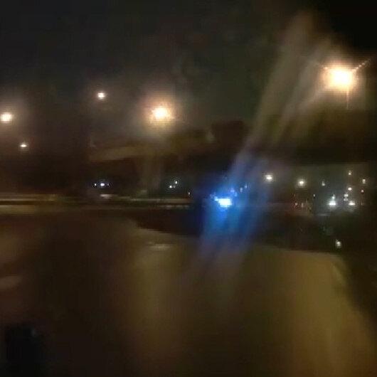 Köprünün çökme anı araç içi kamerasında