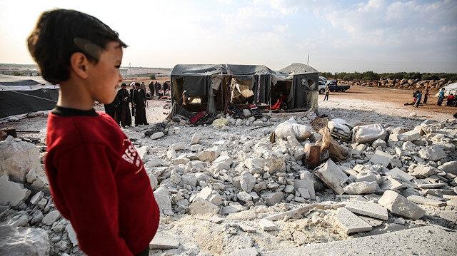 İdlib'de mülteciler yardım bekliyor