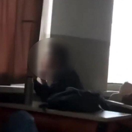 Derste sigara içen öğrenci büyük tepki topladı