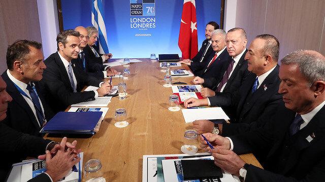 Cumhurbaşkanı Erdoğan Yunanistan Başbakanı Miçotakis ile bir araya geldi: Masada Doğu Akdeniz var