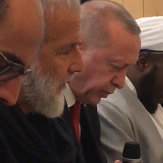Cumhurbaşkanı Erdoğan Cambridge Camiinde Kuran-ı Kerim okudu
