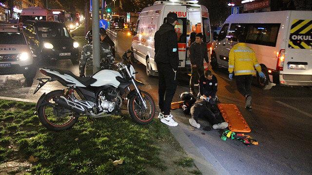 İstanbul Beşiktaş'ta yola dökülen yağ kazaya neden oldu