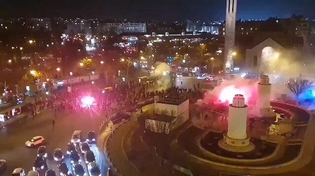 Gözü dönen Fransız holiganlar Galatasaray taraftarlarına saldırdı