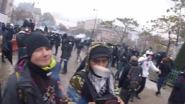Fransa'da polisin göstericilerin yüzünü hedef aldığı saldırı kamerada