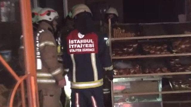 Beyoğlu'nda simit fırınında yangın paniği