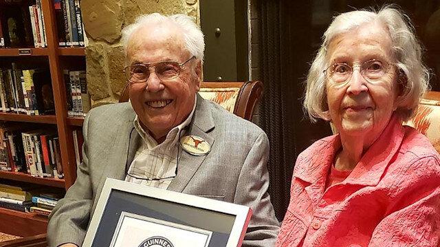 Dünyanın en uzun süre evli kalan çifti Guinness Rekorlar Kitabı'na girdi