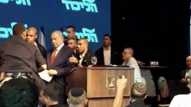 Roket sirenleri çaldı, Netanyahu sığınağa indi: Seçim mitingi yarıda kaldı