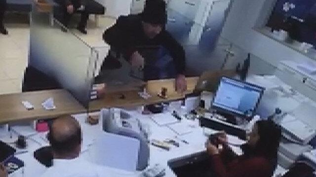 Avcılar'daki bankla soygunu kamerada