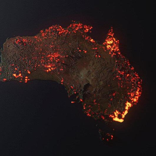 Avustralyada 150 noktada çıkan dev yangınlar söndürülemiyor!