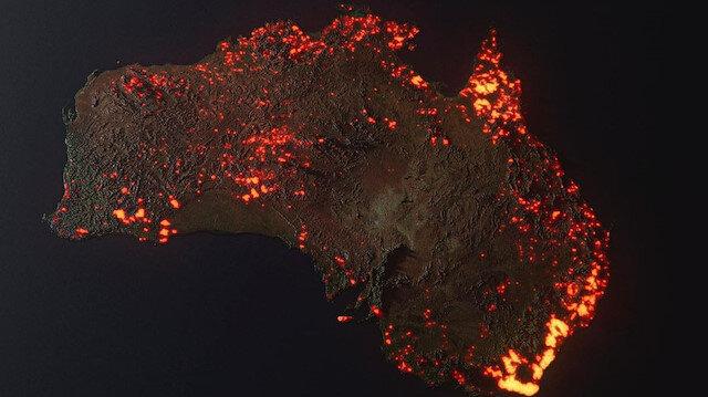 Avustralya'da 150 noktada çıkan dev yangınlar söndürülemiyor!