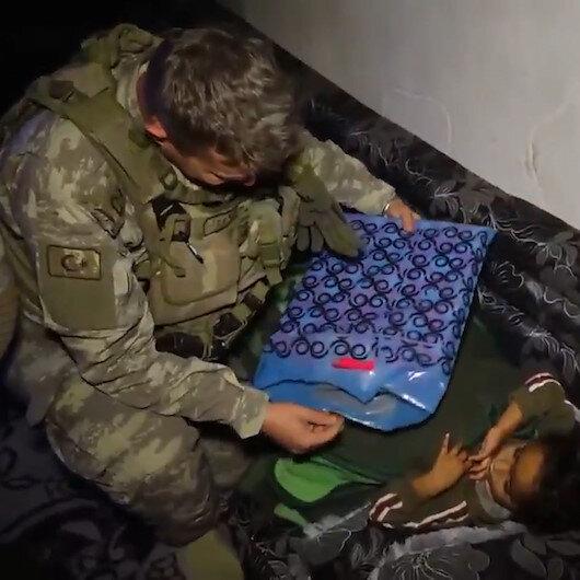 Mehmetçikten 4 yaşındaki Nevaya sürpriz ziyaret