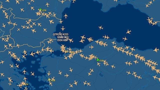 Bu kez karada değil havada trafik yoğunlaştı