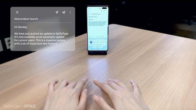 Samsung, parmak hareketlerini algılayan sanal klavye uygulaması geliştirdi